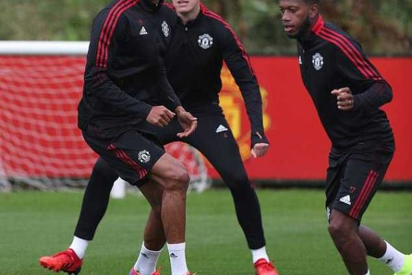 Raphael Varane trained with his Manchester United teammates