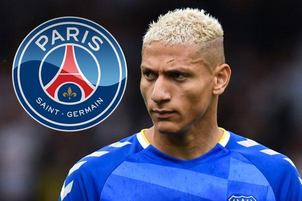 Paris Saint-GermainReportedly showing interest in Everton striker Richarlison